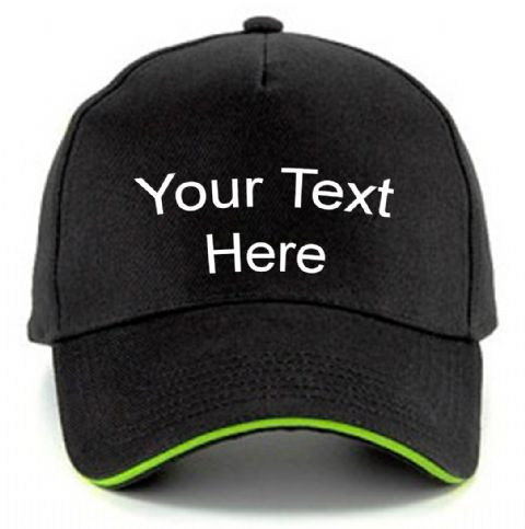 Personalised Contrast Sandwich Peak Baseball Cap